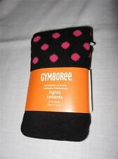 NWT Gymboree Black Tights with Bright Pink Polka Dots ~ 0-6 Months ~ Adorable!