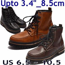 "HEIGHT INCREASING ELEVATOR SHOES BOOTS_Upto 3.4""/ 8.5cm_Brown or Black_Da_27tor"