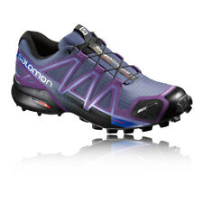 Salomon Speedcross 4 CS Womens Blue Purple Water Resistant Running Shoes