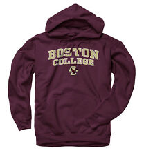 Boston College Eagles Adult Arch and Logo Hooded Sweatshirt - Maroon