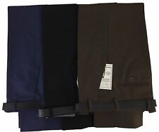 New Mens Casual Smart Work Trousers Black Navy Blue Grey Brown Waist Size 30 48