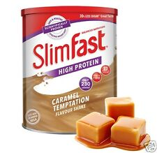 Slim Fast Diet High Protein Powder Shake Weight Loss Replacement Meal Caramel