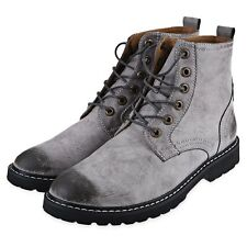 New Fashion Mens High Top Ankle Boots Lace Up Oxfords Leather Dress Shoes SAU