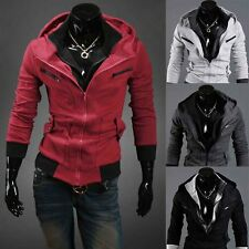 Sexy Slim Fit Men Top Designed Hooded Hoodies Jackets Coats 4color 4sizes