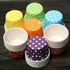 100pcs Colorful Paper Cake Cupcake Liner Case Wrapper Muffin Baking Cup Party 6o