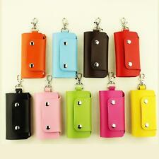 Men Women PU Leather Key Chain Accessory Pouch Bag Wallet Case Key Holder New 9o