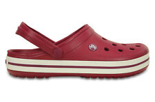 WOMEN'S SHOES SNEAKERS CROCS CROCBAND [11016 POMEGRANATE/WHITE]