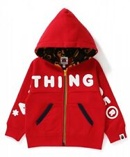 A BATHING APE ALL BABY MILO ZIP HOODIE BAPE Kids Toddler Jacket New From Japan