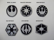 STAR WARS large sew on patches  REBEL ALLIANCE, GALACTIC REPUBLIC, NEW REPUBLIC,