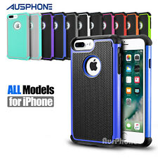 Premium Hybrid Heavy Duty Silicone Cover Case for Apple iPhone 7 Plus 7