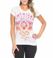 NWT AMERICAN FIGHTER Affliction white Santa Clara burnout s/sl tee SHIRT S M XL