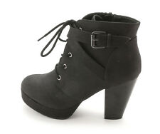 Material Girl Womens RHODES Closed Toe Ankle Platform Booties