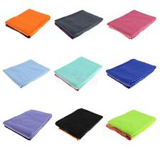 Non Slip Yoga Towel Mat Grip Soft Absorbent Pilates Fitness Gym Washable Widen