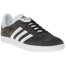 New Mens adidas Grey Gazelle Suede Trainers Retro Lace Up