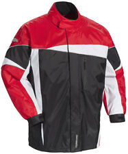 TOURMASTER Defender 2.0 Two-Piece Motorcycle Rainsuit (Black/Red) Choose Size