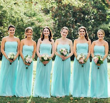 Sexy Beach Chiffon Bridesmaid Dress Strapless Formal Evening Gowns For Wedding