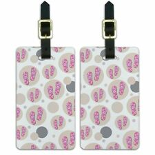 Luggage Suitcase Carry-On ID Tags Set of 2 Beach Tropical