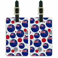 Luggage Suitcase Carry-On ID Tags Set of 2 Country National Flag J-N