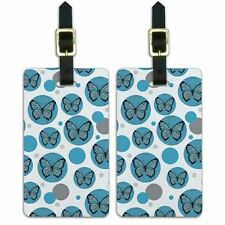 Luggage Suitcase Carry-On ID Tags Set of 2 Butterfly Butterflies