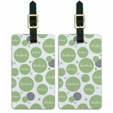 Luggage Suitcase ID Tags Set of 2 Inspirational Kindness Be Kind Happy Script