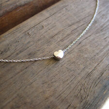 Silver Heart Necklace, Simple Necklace, Love Charm, Minimalist,Everyday Necklace