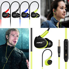 Waterproof With Mic Earphones In Ear Earbuds HIFI Sport Headphones Bass Headset