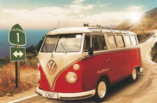 California Camper VW Bus Poster - Route One