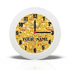 BRAND NEW  WALL CLOCK  EMOJIS DESIGN CAN BE PERSONALISED NEW FREE P&P