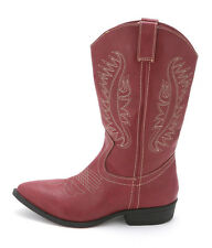 Rampage Womens WAMBLEE Pointed Toe Mid-Calf Cowboy Boots
