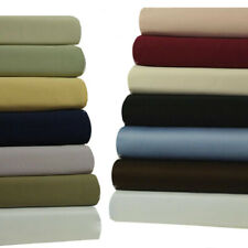 Attached WATERBED Sheet Set, 450 100% Cotton Solid Sheets With POLE ATTACHMENTS