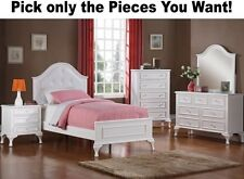 White Bedroom Furniture Dresser Nightstand Chest Mirror Dressers Twin Bed Kids