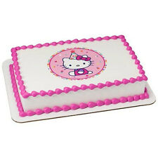 Hello Kitty Edible Cake OR Cupcake Toppers Decoration
