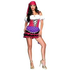 Gypsy Costume Sexy Adult Fortune Teller Halloween Fancy Dress