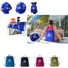 Folding Sport Drawstring Backpack Waterproof Training Bag Basketball Swim Pouch