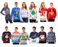 Adult Xmas Novelty Christmas Sweater Mens womens Retro Vintage Unisex Jumpers