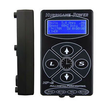 Hurricane HP-2 Silver Red Black Dual Digital LCD Tattoo Power Supply New Version