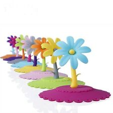 Lovely Hot Colorful Flower Silicone Dustproof Cup Lid Leakproof Cup Cover
