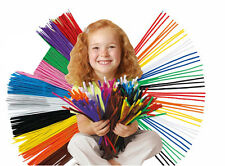 Chenille Pipe Cleaners Long Craft Stems Coloured Striped Black Brown White