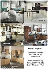 Super Soft Cream Shaker Kitchen Units + other styles FREE worktop taps sink