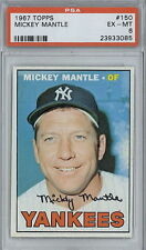 """1967 Topps #150 Mickey Mantle PSA 6 EX-MT """"Centered"""" (085)"""