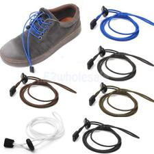 Footful Blue Elastic Easy Fastening Shoe Laces Trainers Run Marat Sports 6 Color