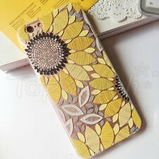Emboss Colorful Flower Print Pattern Soft TPU Back Case Cover For iPhone 6 Plus