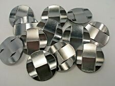 New lots of Dark Silver Metal Buttons sizes 5/8, 11/16, 7/8,1 1/8  inch  # S20