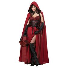 Little Red Riding Hood Costume Adult Gothic Fairy Tale Halloween Fancy Dress