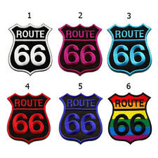 ROUTE 66 HIGHWAY ROAD CLASSIC BIKER EMBROIDERED IRON ON PATCH PATCHES APPLIQUE
