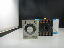 12V 24V 110V 220V AH3-3 30s 60s 3min Power On Delay Timer Time Relay With Base