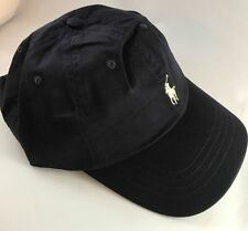 BNWT Adults One Size Ralph Lauren Cap Hat Polo Navy Blue With Pony RRP £35