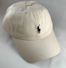 BNWT Adults One Size Ralph Lauren Cap Hat Polo Beige With Pony RRP £35
