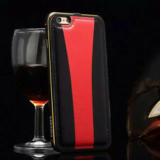New Luxury Metal Frame+PU Leather Removable Back Case Cover For iPhone 6/6S Plus