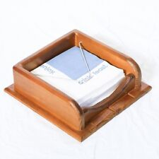 Wooden Cocktail Napkin Holder - 1 Compartment - Metal Stay